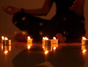 yoga candlelight